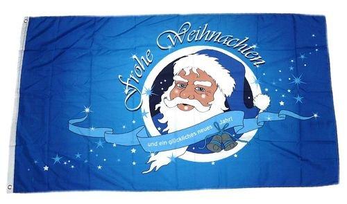 Fahne/Flagge Frohe Weihnachten blau NEU 90 x 150 cm