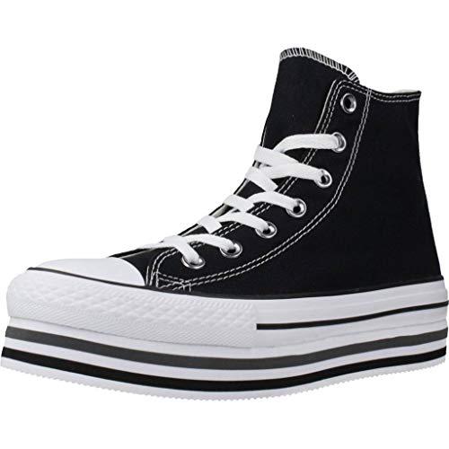 Converse Sneakers Ctas Platform Layer Hi Nero Bianco 564486C (37 - Nero)
