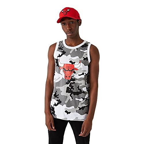 New Era Chicago Bulls Tanktop NBA Shirt Basketball Trikot Fanshirt Camouflage Grau - XXL