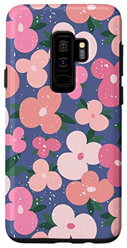 Galaxy S9+ Pink Wildflowers Floral Pattern Case