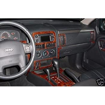 amazon com jeep grand cherokee laredo limited interior burl wood dash trim kit set 2003 2004 automotive jeep grand cherokee laredo limited interior burl wood dash trim kit set 2003 2004