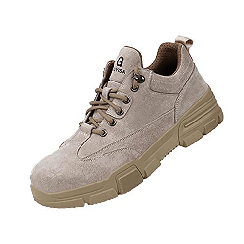 Zapatillas Seguridad Hombre Trabajo,Zapatos De Seguridad con Punta De Acero para Hombre - Calzado De Industrial Y Deportiva,Cómodos Ligeros Y Transpirables 42 EU