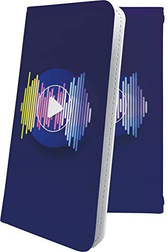 スマートフォンケース・GRANBEAT DP-CMX1(B)・互換 ケース 手帳型 音楽 音符 楽器 再生ボタン ハート love kiss キス 唇 グランビート オンキョー オンキョウ 手帳型スマートフォンケース・クラシック モノトーン classic dpcmx1 dp-cmx1 cmx1 ユニーク おもしろ おもしろケース [Ash41037Br5]