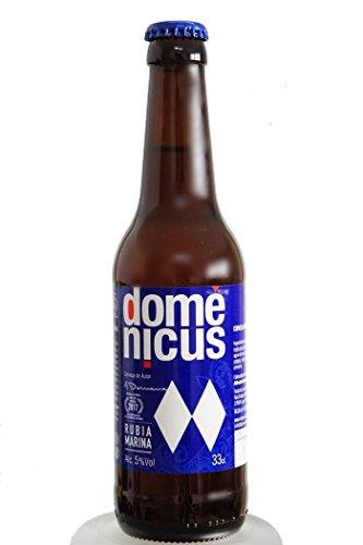 Domenicus Marina - Cerveza de Autor Rubia Marina, Artesanal Elaborada con Agua de Mar de Costa da Morte. 33cl