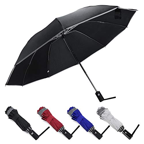 Lowest Prices! ZOORON Inverted Umbrella Compact Windproof Collapsible 10 Ribs Auto Open & Close Fold...