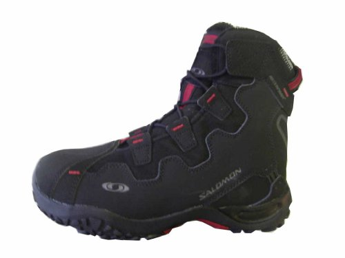 Salomon Snowtrip TS WP W Eur 101085, Damen Sportschuhe - Outdoor, Schwarz (Black/Black/Rubis), EU 39 1/3 (UK 6)