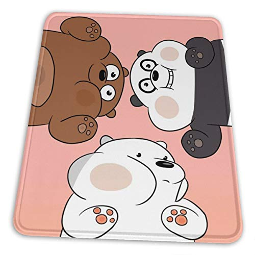 We Bare Bears Premium Rectangle Mouse Pad Non-Slip Rubber Gaming Mouse Pad for Laptop Computer & Pc
