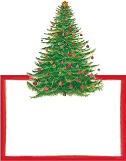 Christmas Place Cards Table Decorations No Place Card Holders Needed Die Cut Xmas Tree Pk 16