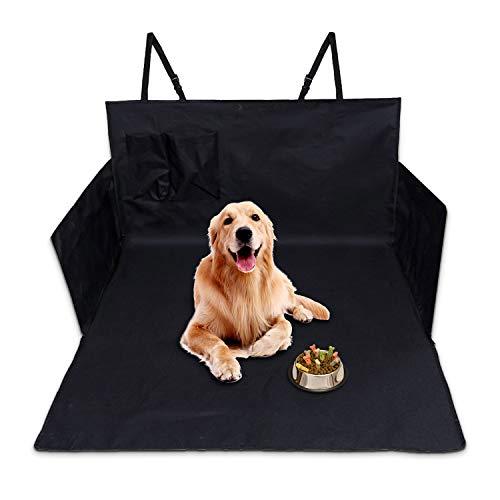 Auto Kofferraum Hundedecke, Suddefr Kofferraumschutz Hund, Wasserdichter, Waschbar, Quilted Kofferraumdecke Hundedecke Auto mit Seitenschutz, rutschfest Kofferaumschutzmatte für Most SUVs.
