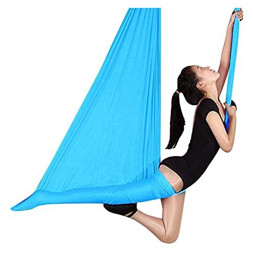 SHUHANG Wind Kids Therapy - Columpio sensorial para el autismo con hiperactividad, incluye cuerda de conexión, cierre de acero (color: azul, tamaño: 600 x 280 cm)
