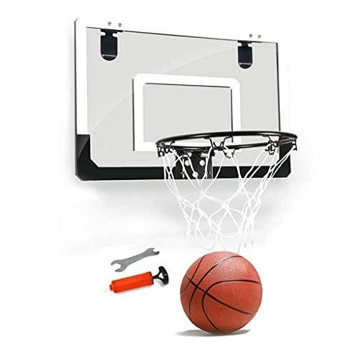 XIUYU Fitness Basketballkorb Kinder hängend Basketballkorb Innenwand Schießen Hoop Startseite Wohnung Basketball Rack kann Dunk (Color : Black, Size : 45 * 30cm)