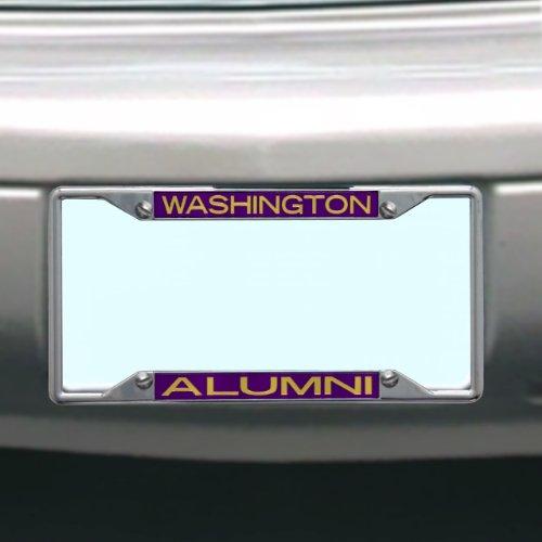 NCAA Washington Huskies License Plate Frame Alumni