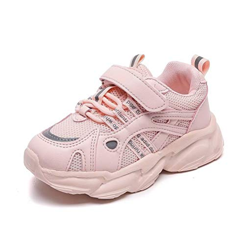 Zapatos de Correr Niño Transpirable Ligeras Casual Adolescente Zapatillas Deportivas Niña Fashion Antideslizante Running Trainers Rosa 35