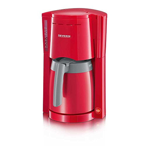 SEVERIN KA 9746 Filter-Kaffeemaschine Rot-Grau 800 Watt