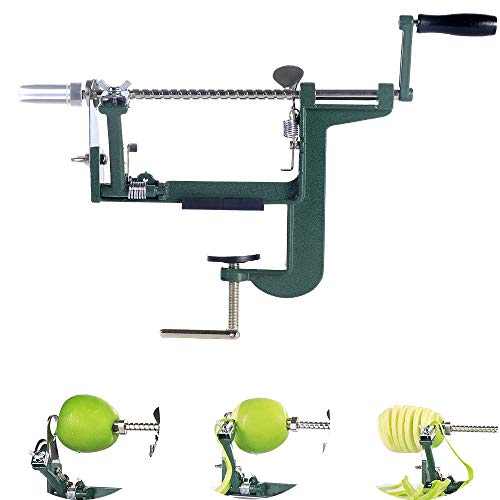 Apple Peeler Apple Peeler and Corer with 3 in 1 Slinky Machine Durable Heavy Duty Die Apple Peelers Mountable on Counter or Tabletop, Made in USA