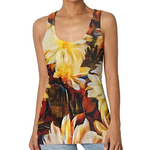 FairyLi Abstraction Flmouth Arrangementen van de vrouwen casual zomer-tanktops mouwloos shirt