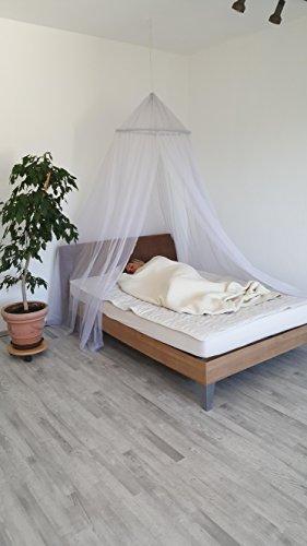 TEXVITAL HF-ELEKTROSMOG- Abschirmung-Bettbaldachin Doppelbett Umfang ca.10,0m Höhe 2,50m rohweiss