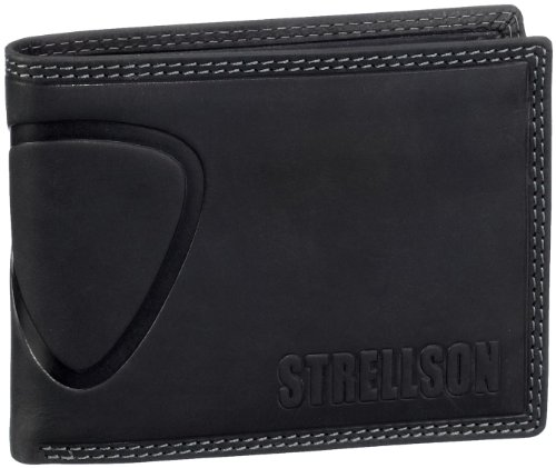 Strellson Baker Street Billfold H7 4010000048 Herren Geldbörsen 13x10x1 cm (B x H x T), Schwarz (black 900)