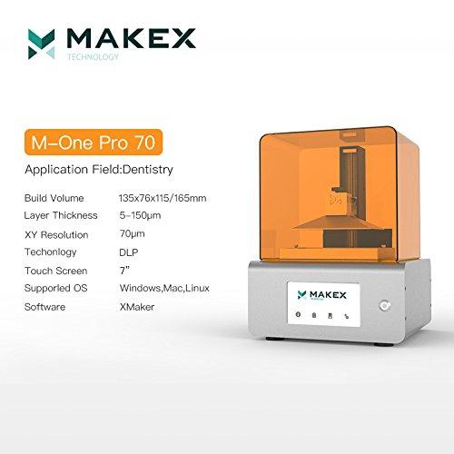 MakeX M-One Pro series70 Model 3D Desktop Printer ;Personal DLP 3D Printer with 405nm ;Desktop 3D Printer for design; Mini 3D Printer Education,Jewelry,dental fileds industrial High precision