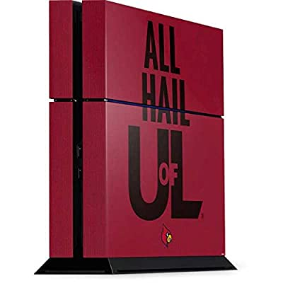 Skinit Decal Gaming Skin for PS4 Console - Officially Licensed College Louisville All Hail U of L Design