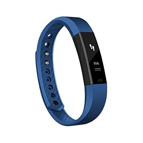 Antimi Fitness, activity tracker, braccialetto intelligente, smartwatch per cellulari Android, iPhone, con contapassi, notifiche dei messaggi e identificatore di chiamata