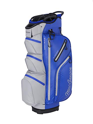 "MACGREGOR Golf MACBAG131 MACTEC Water Resistant 10\"" Inch Golf Club Cart Bag, Blue / Silver"