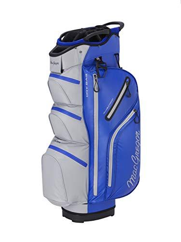 "MACGREGOR Unisex-Adult MACBAG131 MACTEC Water Resistant 10\"" Inch Golf Club Cart Bag, Blue/Silver, One Size"