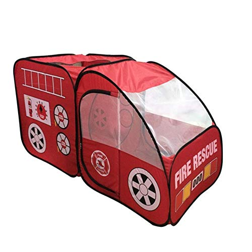 Fire Truck Tent for Kids, Toddlers, Boys & Girls ,Indoors Outdoors Quick Set Up, Weather Proof Fabric, Foldable Spacious Children's Tent,Best Gift