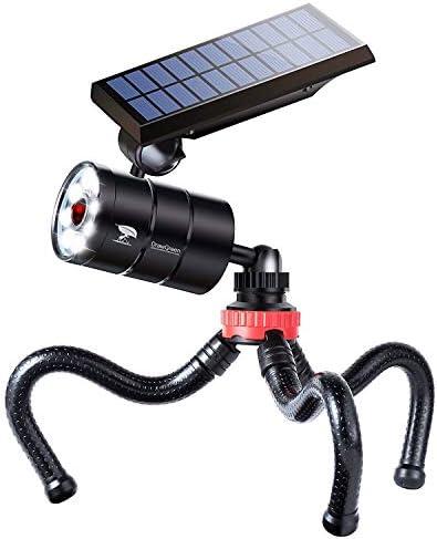 Solar Motion Sensor Light Outdoor Spotlight 1400 Lumens 9W 130W Equi Aluminum LED Solar Flood product image