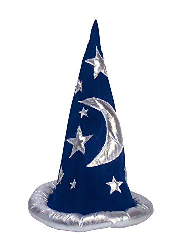 Adult Wizard Hat- Blue and Silver