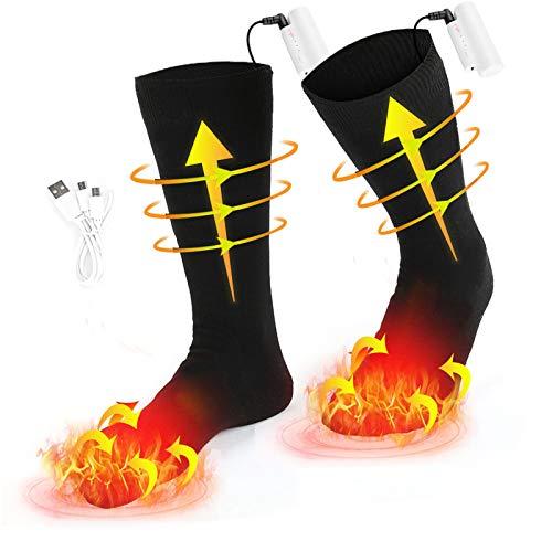 Elektrische beheizte Socken, 1 Paar Batterie warme Socken kaltes Wetter Thermische Socken Sport Outdoor Camping Wandern warme Winter Socken für Männer Frauen