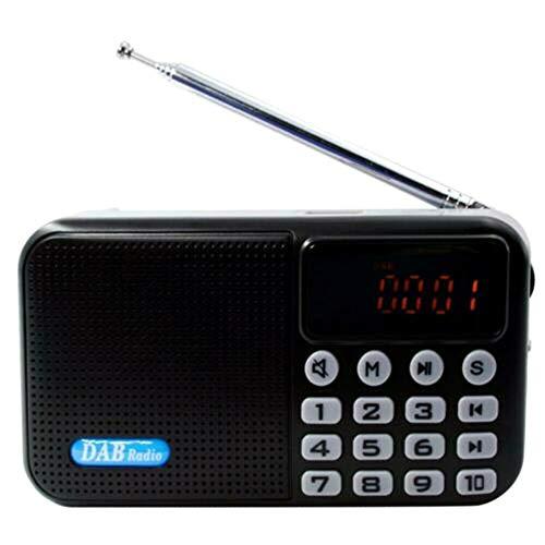 CGGA Digital Portable DAB Digital Radio, FM Bluetooth MP3 Player Multi-Function Pocket DAB Radio