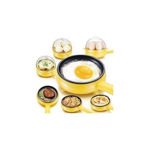 Stvin Electric 7 Egg Boiler Poacher with Handle, Compact, Multicolour