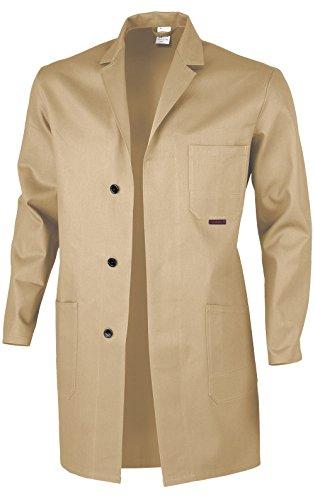 Qualitex Berufsmantel Arbeitskittel Blaumann 100 % Baumwolle - mehrere Farben - 46,Khaki