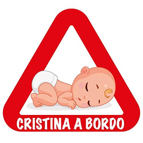 Pegatinas Bebé a Bordo Personalizadas (Cristina)