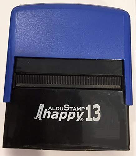 Timbro Autoinchiostrante Personalizzato HAPPY 13 mm 58x22 - Personalizzazione inclusa
