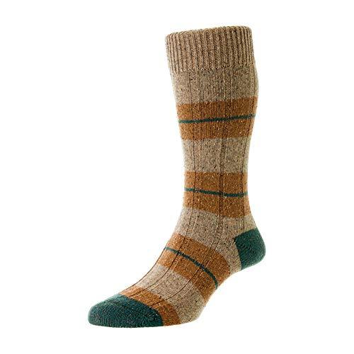 Scott Nichol Bayfield 10x1 Rib Socks - Natural Fleck Natural Fleck Large