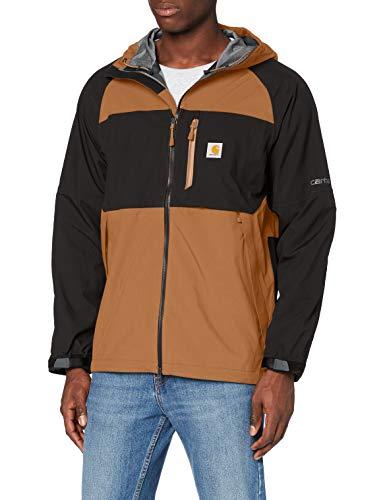 Carhartt Men's Storm Defender Force Midweight Hooded Jacket, Black Brown, 3X-Large