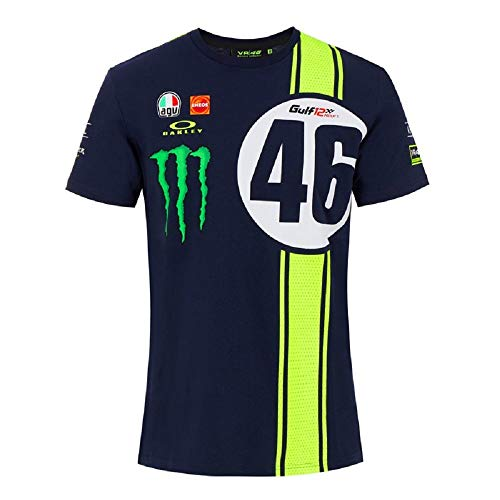 VR46 Abu Dhabi 12Hrs Replica Camiseta, Hombre, Azul, M