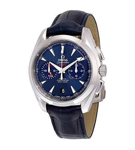 Omega Seamaster Aqua Terra Chronograph GMT Automatik Chronometer Blue Dial Herrenuhr 231.13.43.52.03.001
