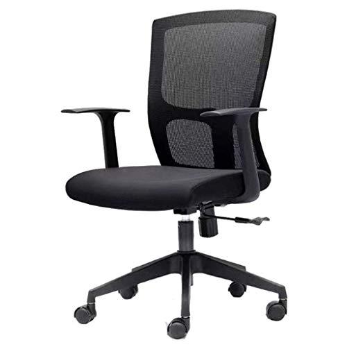 SCDBGY Deluxe Netz Rücken Drafting Stuhl mit Durchmesser Adjustable Fußring Schwarz Stoff Sitz
