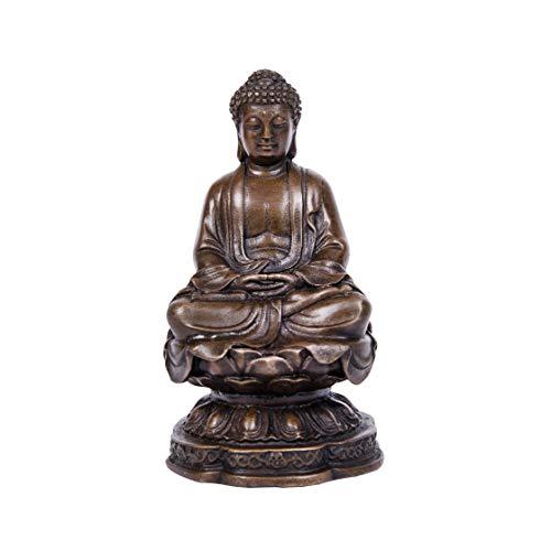ToperkinSmall Buddha Statues Buda Bronze Sculptures TPFX-B93 Buddhist Home Decor