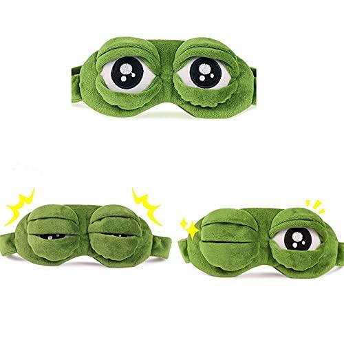 JIETAOMY AugenAbdeckung 1 stück 3D Frosch Schlafende Maske Eyeshade Plüsch Eye Cover Cartoon Eischade Für Eye Travel Relax Geschenk Schlafmaske für Augen Nette Flecken