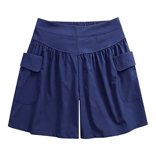 Petalum Damen Sommer Kurz Shorts Hoch Taille Locker Kurze Hose Streetwear Weit Bein Chino Shorts Hosenrock