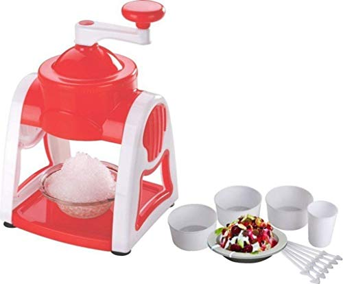 Maharaj Mall Handheld Ice Gola Maker Machine with Plastic Bowl Cup Glass and Stick (Multicolor, Pack of 10)