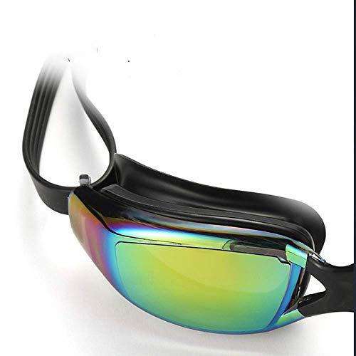 SST Gafas de natación con Montura Gafas de natación antivaho Anti-Ultravioleta Impermeables Galvanoplastia de Alta definición para Hombres y Mujeres Adultos