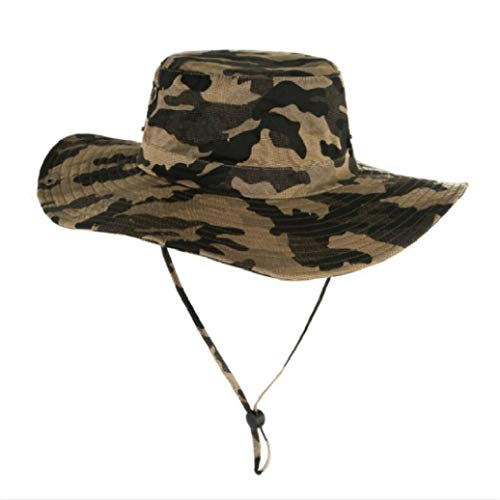 Große Krempe Angeln Hut Camouflage breiter Krempe Eimer Hut Männer Frauen Camo Fischer Sommer Sun Beach Panama Hut