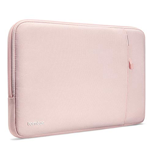 tomtoc Recycled Laptop Sleeve for 12.3 Inch Microsoft Surface Pro X/7/6/5/4/3/2/1, 12.4 inch Surface Laptop Go, New Dell XPS 13 2020, 360° Protective Laptop Accessory Case Bag, Pink