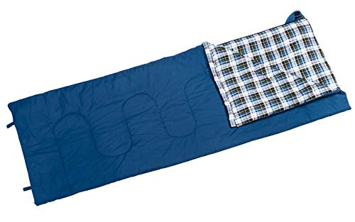 BERGER Deckenschlafsack Camper blau 210x80 Koppelbar inkl. Packsack Schlafsack Camping