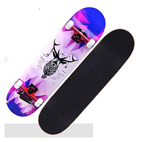 Cinta de agarre de la patineta Patinetas, 79 * 20 * 10 cm patinetas para adultos u adolescentes, tablero de skate Cruiser de arce, incluyendo ruedas de PU, patrón de bricolaje, rodamiento, camión Para